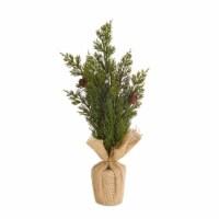 Mini Pine Tree (Set of 6) 15 H Burlap/Plastic - 1