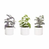 Potted Herb (Set of 3) 9.5 H Polyester - 1