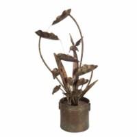 Anthurium and Hummingbird Fountain 39.5 H Iron - 1