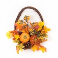 Pumpkin/Gourd/Fall Leaf Basket (Set of 2) 16 L x 17.25 H Polyester - 1