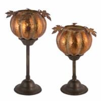 Pumpkin Candleholder (Set of 2) 12 H, 15 H Iron - 1