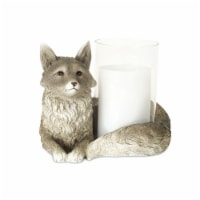 Fox Candle Holder 8 L x 6 H Resin/Glass - 1