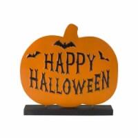 Happy Halloween Table Piece (Set of 2) 12.25 H Wood/Metal - 1