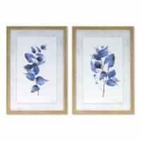 Framed Leaf Print (Set of 2) 12.75  x 18.25 H Plastic/MDF - 1