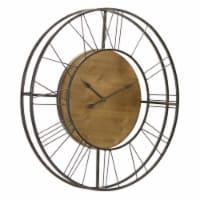 Wall Clock 35.5 D Iron/Wood - 1