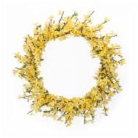 Forsythia Wreath 25.5 D Polyester - 1