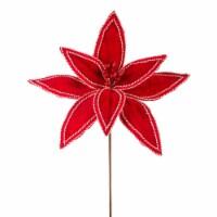 Poinsettia Stem 19 H (Set of 12) Felt - 1