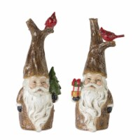 Santa (Set of 2) 15.25 H, 16 H Resin - 1