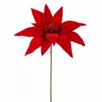Poinsettia Stem 17 H (Set of 12) Polyester - 1
