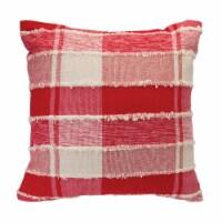 Plaid Pillow 14 SQ Cotton - 1