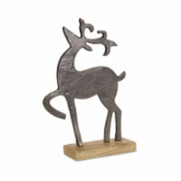 Deer 9.75 L x 14.25 H (Set of 2) Iron/Wood - 1