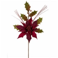 Poinsettia and Holly Stem 20 H (Set of 12) Polyester - 1