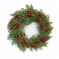 Pine and Berry Wreath 23 D Plastic - 1