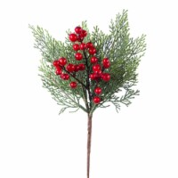 Pine and Berry Pick 14 H (Set of 24) Plastic - 1