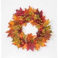 Fall Leaf Wreath 25 D Polyester - 1