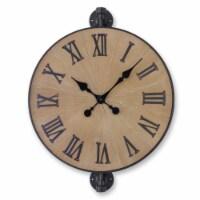 Wall Clock 18.25 D x 22.75 H Metal/Wood - 1