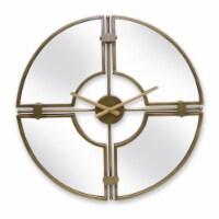 Mirror/Wall Clock 32.5 D Iron/Glass - 1