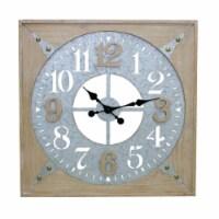 Wall Clock 24.25 SQ Wood/Iron - 1