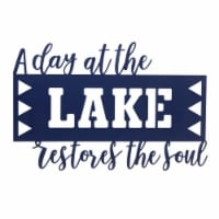 A Day At The Lake Sign (Set of 4) 15.75 L x 10.75 H Metal - 1