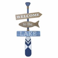 Welcome To The Lake Sign 20 L x 40 H MDF - 1