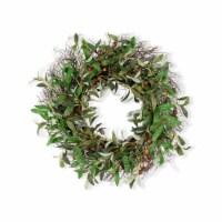 Olive Wreath 27 D Twig/Fabric - 1