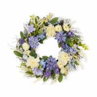 Mixed Floral Wreath 27 D Twig/Fabric - 1
