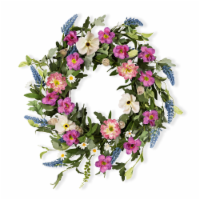 Mixed Floral Wreath 25 D Twig/Fabric - 1