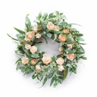 Floral Wreath 24 D Polyester - 1