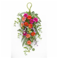 Mixed Floral Wall Swag (Set of 2) 29 L Polyester - 1
