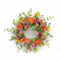 Mixed Floral Wreath 26 D Polyester - 1