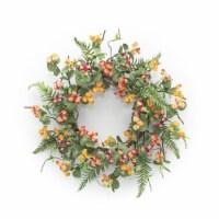 Mini Floral Wreath 23 D Paper/Plastic - 1