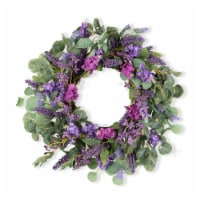 Mixed Floral Wreath 24 D Twig/Fabric - 1