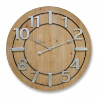 Wall Clock 27 D Wood/Iron - 1