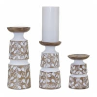 Candle Holder (Set of 3) 5.5 H, 8 H, 10.25 H Resin - 1