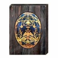 Designocracy 98720-18 Faberge Egg Art on Board Wall Decor - 1