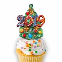 G.DeBrekht 8114040CT-D 2019 Nativity Wooden Cake & Cupcake Topper, Dated - 1