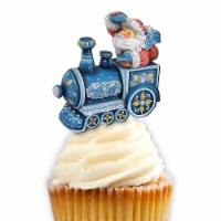 G.DeBrekht 8129211CT Train Ride Santa Cupcake & Cake Toppers - 1