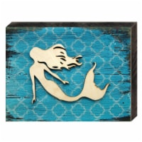 Designocracy 98514-18 Nautical Mermaid Vintage Cove Art on Board Wall Decor