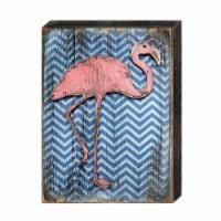 Designocracy 98544-18 Coastal Flamingo Art on Board Wall Decor