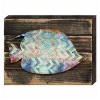 Designocracy 98527-18 Angel Fish Art on Board Wall Decor