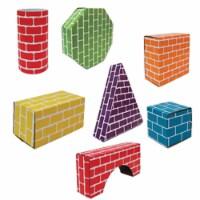 Corrugated Blocks & Shapes - Set of 45 - 45