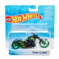 Mattel Hot Wheels® Twin Flame Motorcycle - Green/Black