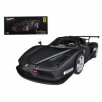 Ferrari Enzo Monza Test Car 2003 Matt Black Elite Edition 1/18 Diecast Car Model by Hotwheels