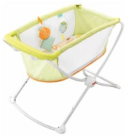 Fisher Price X7757 Rock with Me Portable Baby Infant Bassinet w/ Play Toy, Green - 1 Unit