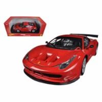 Ferrari 458 Italia GT2 Rosso Corsa Red 1/18 Diecast Car Model by Hotwheels - 1