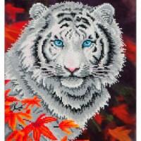 Diamond Dotz Diamond Embroidery Facet Art Kit - White Tiger In Autumn - 1