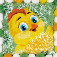 Chicken Cushion Counted Cross Stitch Kit - 11.75 x 11.75 in., 10 Count - 10