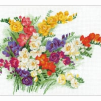 15.75 x 11.7 in. Freesia Counted Cross Stitch Kit - 1