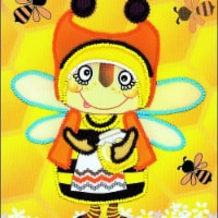 6 x 7 in. Granny Bee Stamped Cross Stitch Kit - 1
