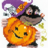 6 x 6 in. Happy Halloween Counted Cross Stitch Kit - 10 Count - 10